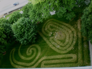 Mary Labyrinth from roof, facing west.